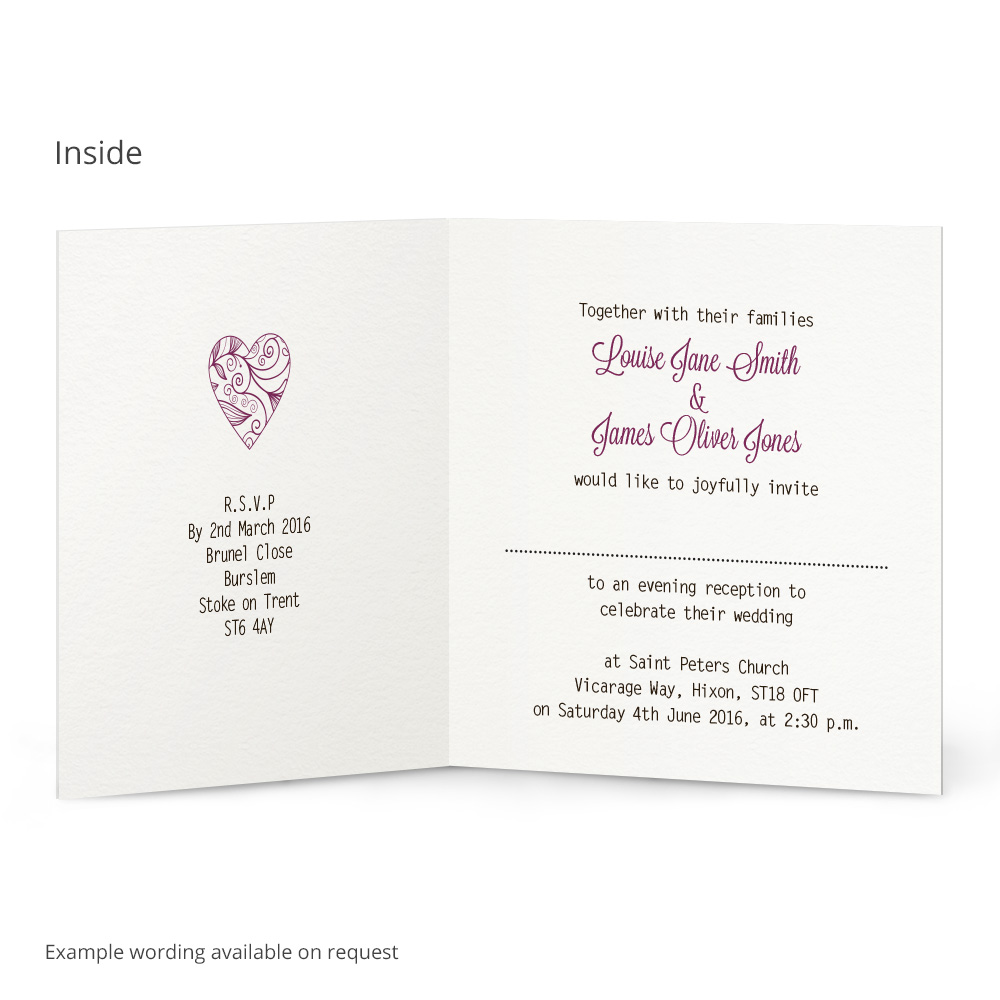 Beautiful heart evening invitation | Beautiful Wishes
