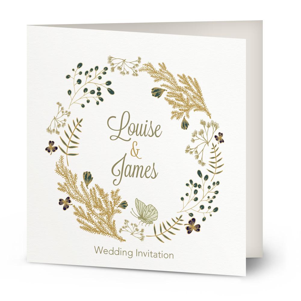 Circle of Flowers wedding invitation | Beautiful Wishes