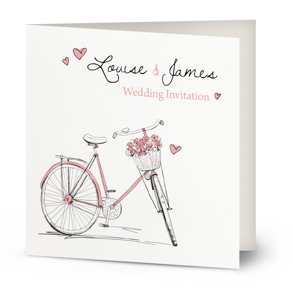 Vintage Bicycle wedding invitation | Beautiful Wishes