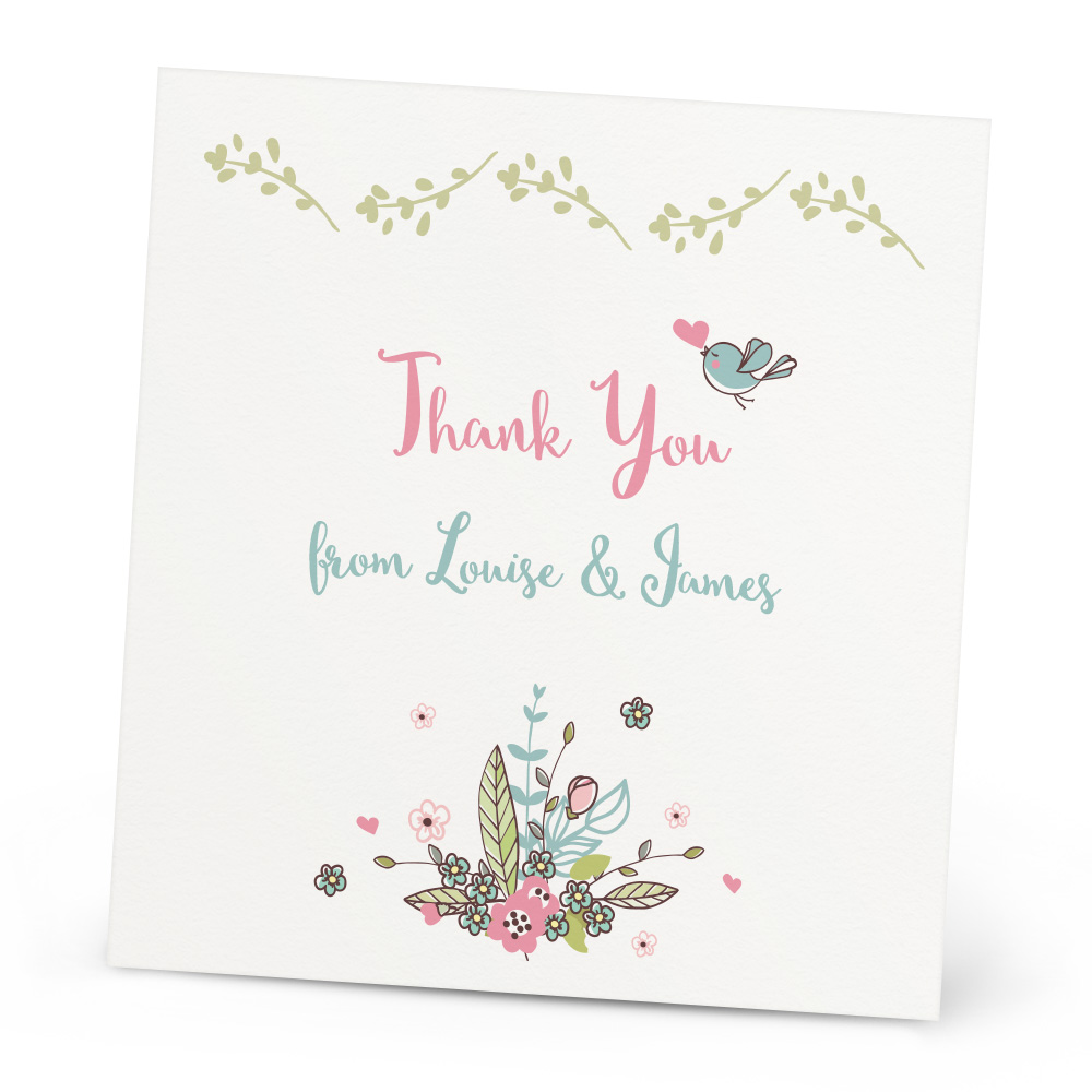 summer flowers thank you card