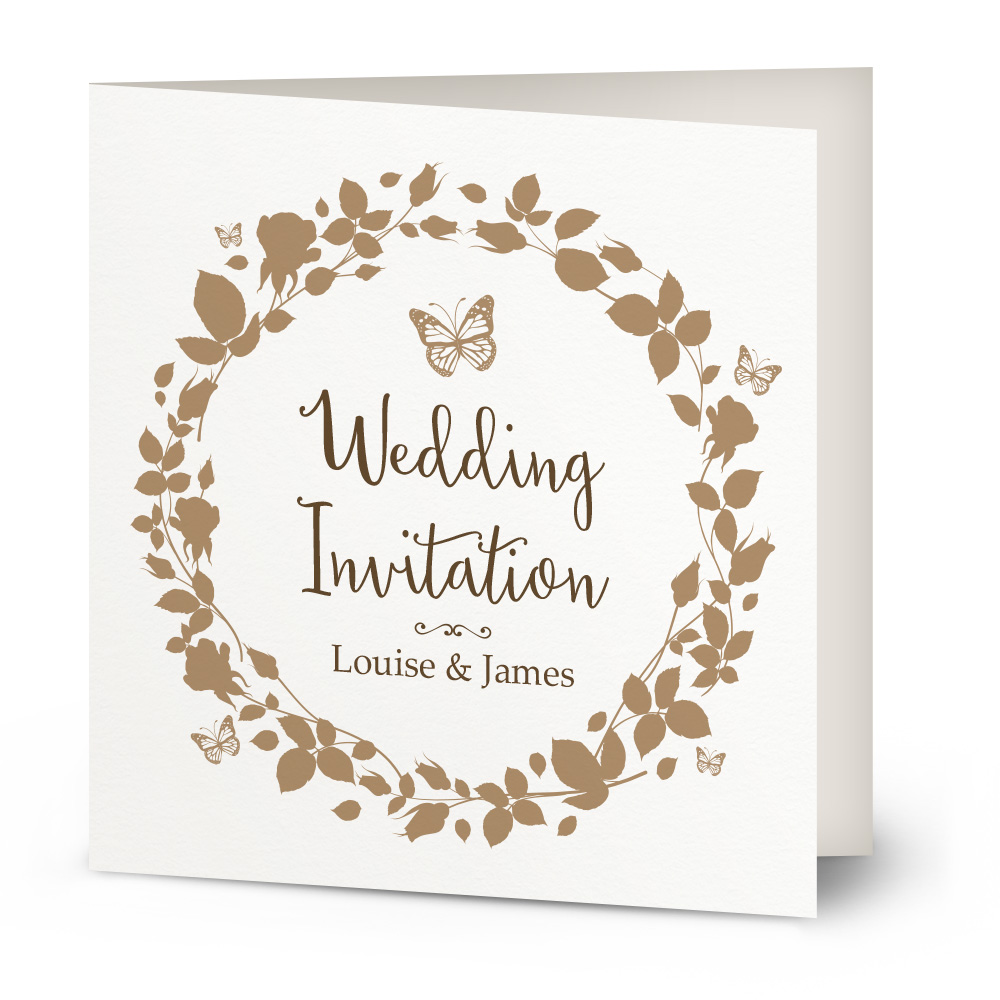 Vintage Butterfly wedding invitation Beautiful Wishes – Butterfly Wedding Invite