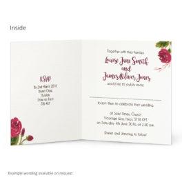 Painted Rose Wedding Invitation GBP160 Per Card