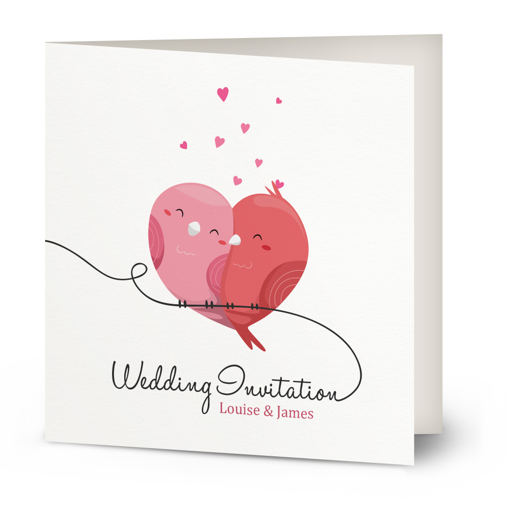 Love Heart wedding invitation | Beautiful Wishes
